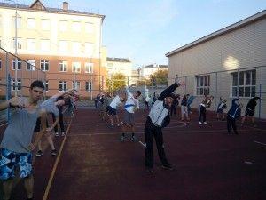 Гимназия №39.Утренняя гимнастика
