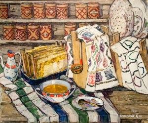 Ситдикова Адия Хабибулловна (Россия, 1913-2000) «Башкирский мёд» (2)